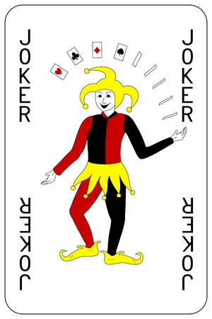 火かき棒のトランプのジョーカー  イラスト・ベクター素材