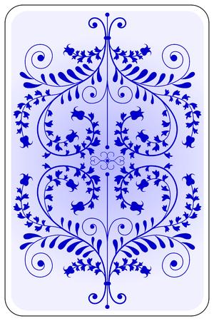 backside: Poker playing card backside blue