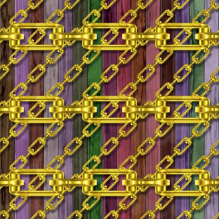 festoons: Iron chains with wood seamless texture