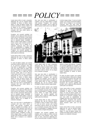 gazette: Newspaper page with Lorem Ipsum text