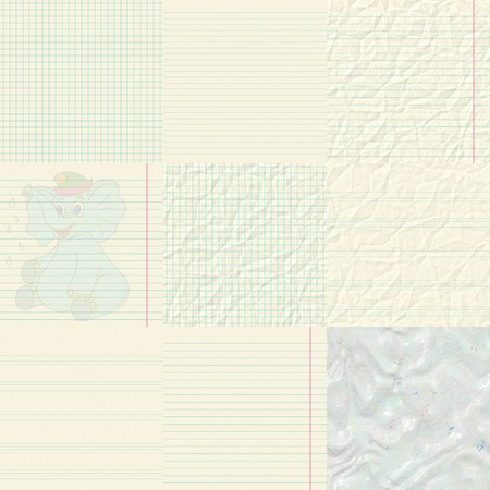 scratch pad: Set of notepaper generated textures Stock Photo