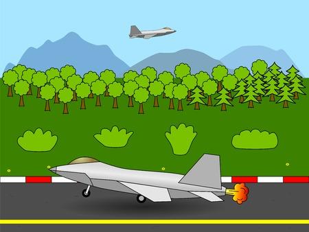 taking off: Avi�n de combate despegando Vectores