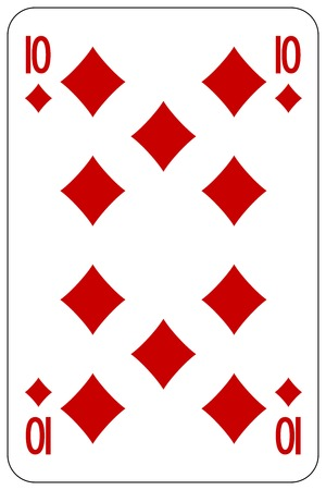 poker: Poker playing card 10 diamond