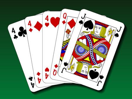 Poker hand - Three of a kind, trips