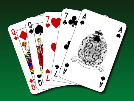 straight flush: Poker hand - Two pair