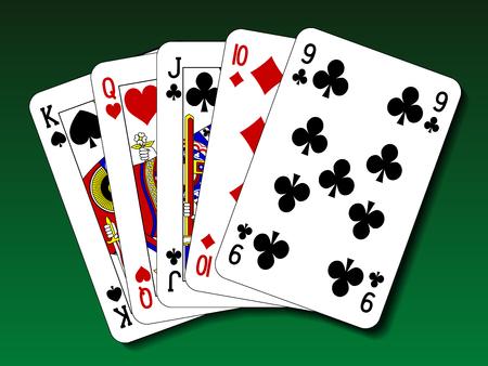 poker hand: Poker hand - Straight