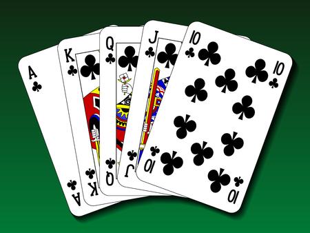 flush: Poker hand - Royal flush club