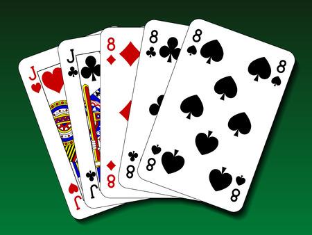 poker hand: Poker hand - Full house Illustration