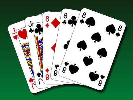 Poker hand - Full house Stock Illustratie
