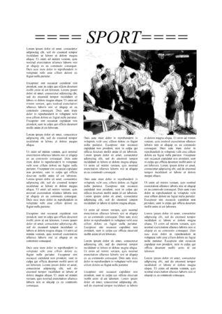 newsprint: Newspaper page with Lorem Ipsum text
