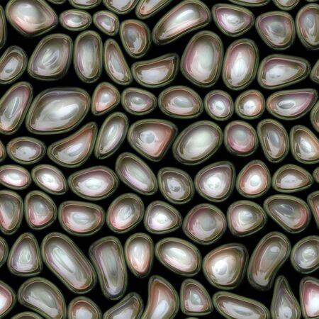 plastic texture: Plastic waves cells seamless texture Stock Photo