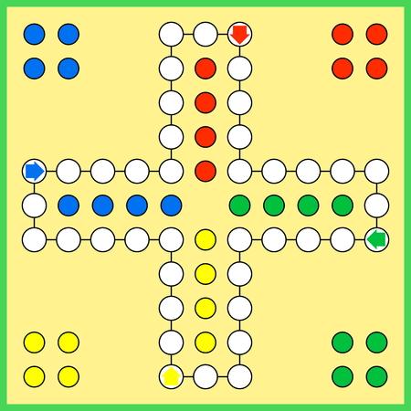 Ludo jeu de plateau Banque d'images - 48968988