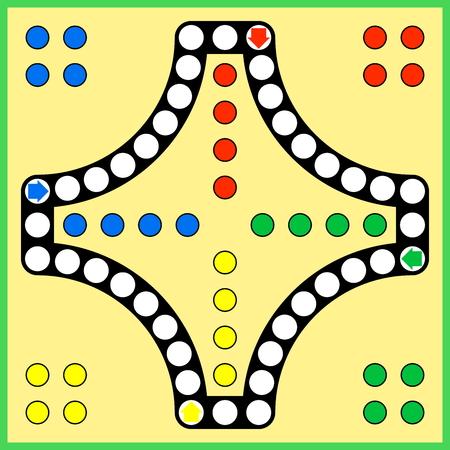 Ludo gioco da tavolo Vettoriali
