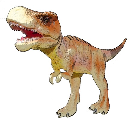 tyrannosaurus: Dino Tyrannosaurus drawing Stock Photo