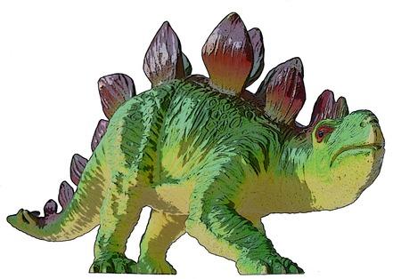 stegosaurus: Dino dibujo Stegosaurus Foto de archivo