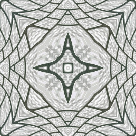 kaleidoscopic: Ornamental fractal pattern wallpaper tile