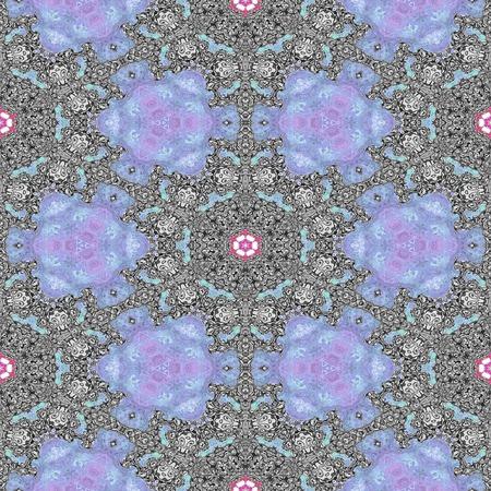 tileable: Kaleidoscopic ornamental pattern Stock Photo