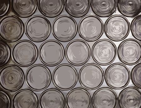 translucent: Circle translucent glass vector texture Illustration