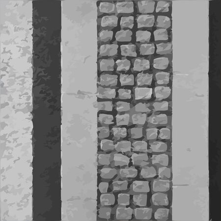 narrow: Narrow pavement road vector texture
