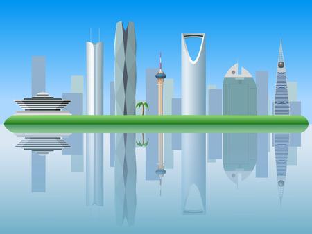 Riyadh Saudi Arabia skyline silhouette