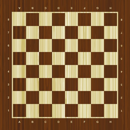 Wooden vector chess board
