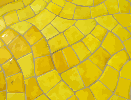 glazed: Glazed yellow stone vector mosaic texture Illustration