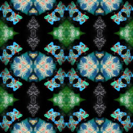 generative: Kaleidoscopic ornamental pattern Stock Photo