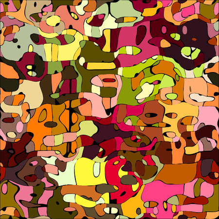 graffito: Abstract color mosaic animals vector pattern