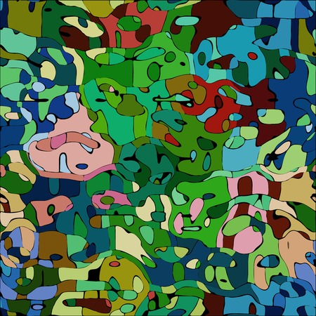 colorized: Abstract color mosaic animals vector pattern