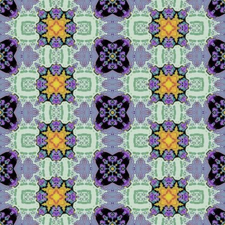 mirroring: Kaleidoscopic ornamental pattern Stock Photo