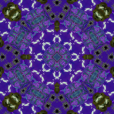 mirroring: Ornamental pattern wallpaper tile