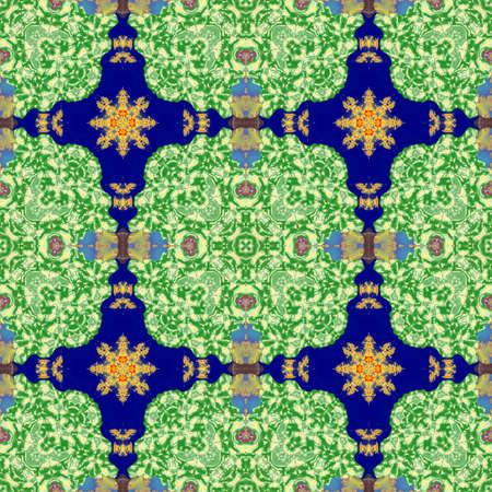 kaleidoscopic: Kaleidoscopic ornamental pattern Stock Photo