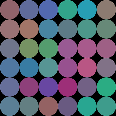 Colors low poly circle style vector mosaic background