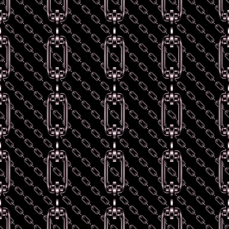 Iron chains with black background seamless texture