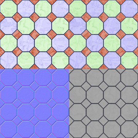 diffuse: Floor tiles seamless generated texture (with diffuse, bump and normal map)