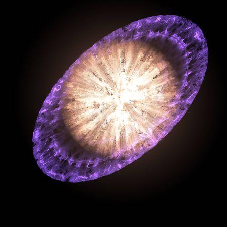 erupting: Supernova star generated texture