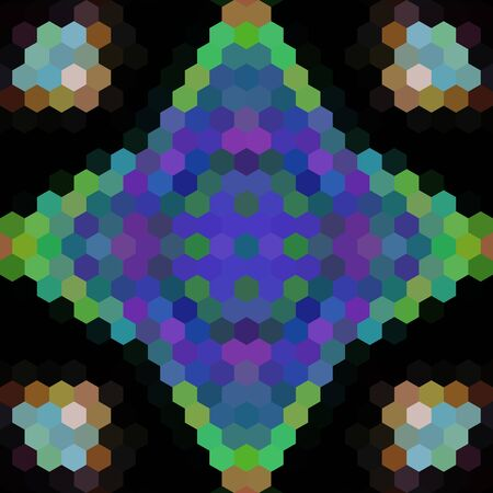 triangle shaped: Kaleidoscopic low poly hexagon style vector mosaic background