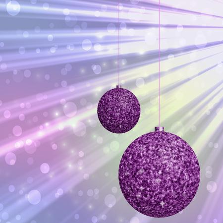hires: Christmas balls generated hires texture