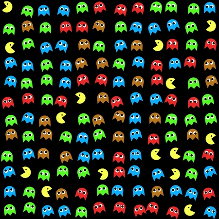 generated: Game monsters seamless generated pattern