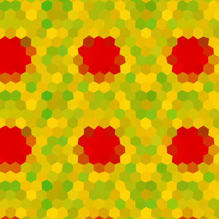 Flower low poly hexagon style vector mosaic background