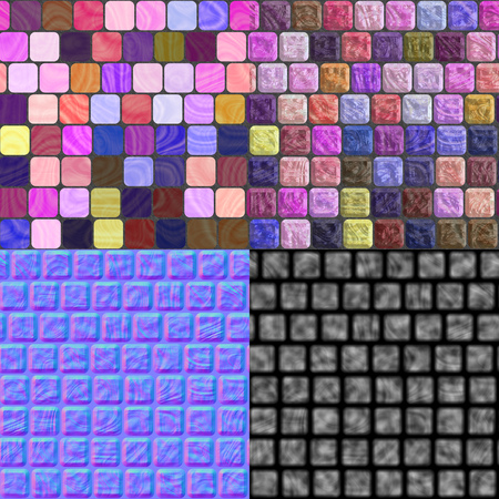 normal: Glass tiles seamless generated texture (with diffuse, bump and normal map)