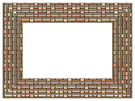 generated: Picture frame generated isolated texture Stock Photo