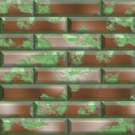 hires: Rusty metal panels seamless generated hires texture