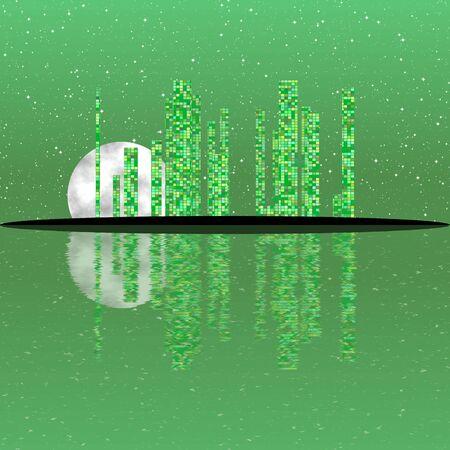 night: Night cityscape generated texture