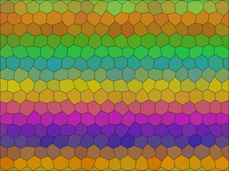 triangle shaped: Gradient low poly hexagon style vector mosaic background Illustration
