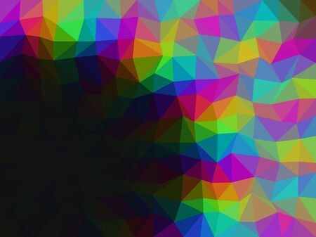 diamond shaped: Rainbow low poly triangle style vector mosaic background