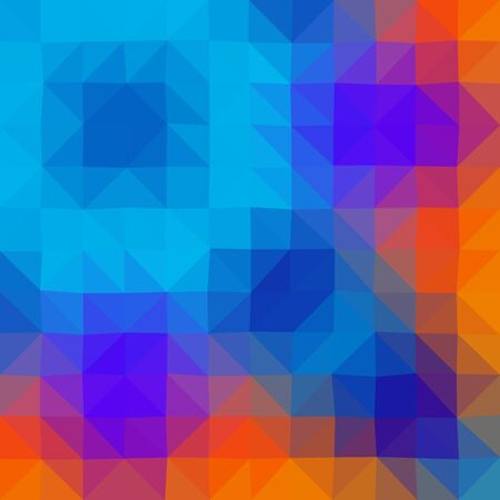 triangle shaped: Colors low poly triangle style vector mosaic background Illustration