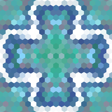 Kaleidoscopic low poly hexagon style vector mosaic background