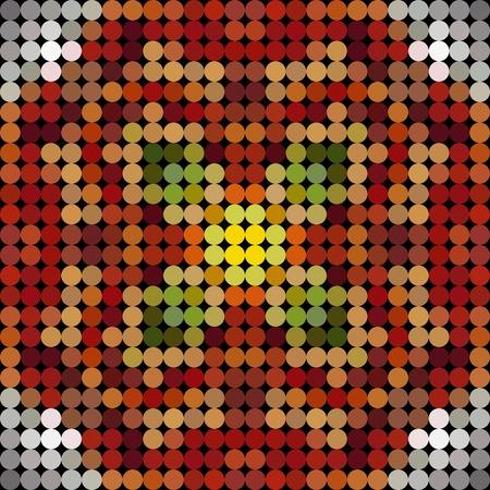 kaleidoscopic: Kaleidoscopic low poly circle style vector mosaic background