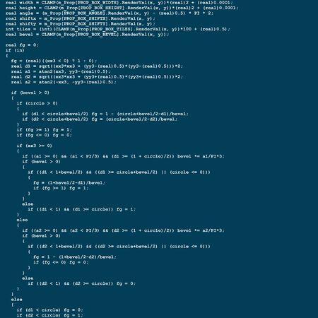 computer screen: Program source code flow Stock Photo
